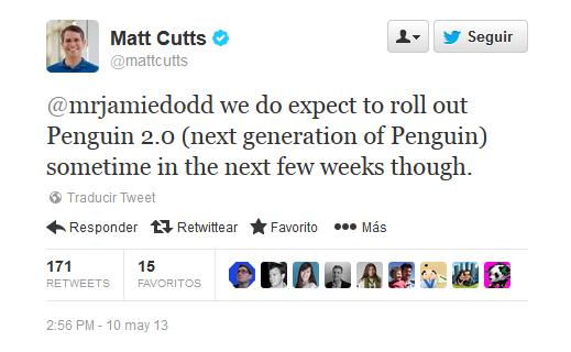 actualización Penguin confirmada por Matt Cutts