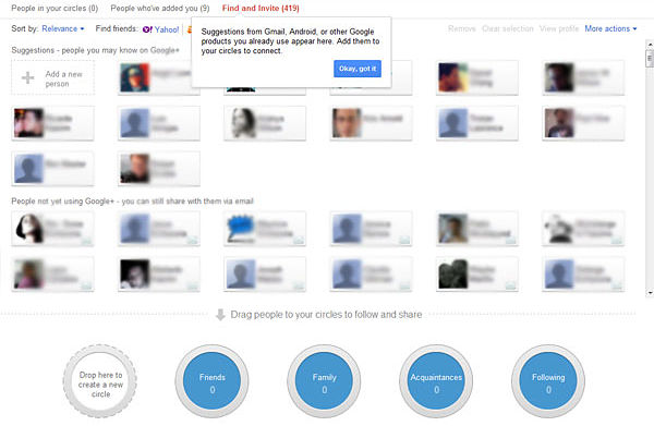 Circulos de Google Plus