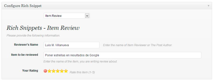 poner estrellas resultados google