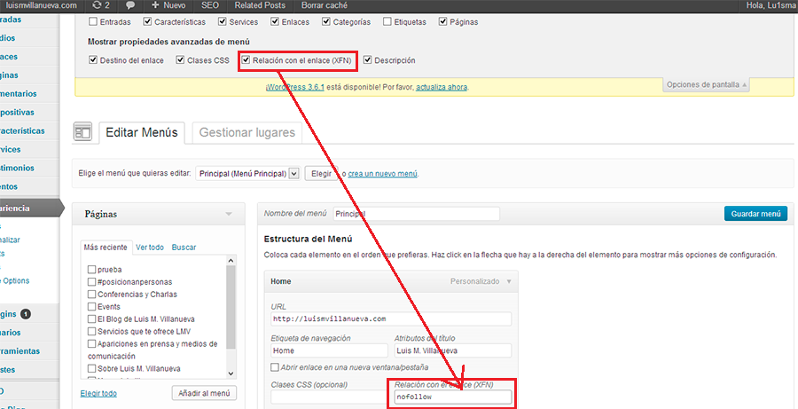 nofollow enlaces en wordpress