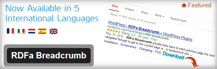 rdfa breadcrum plugin wordpress