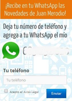 formulario captación whatsapp
