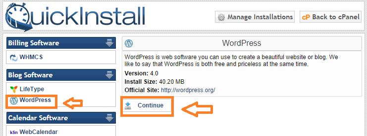 continuar instalación de wordpress
