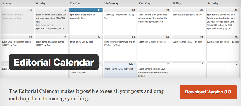WordPress Editorial Calendar WordPress Plugins