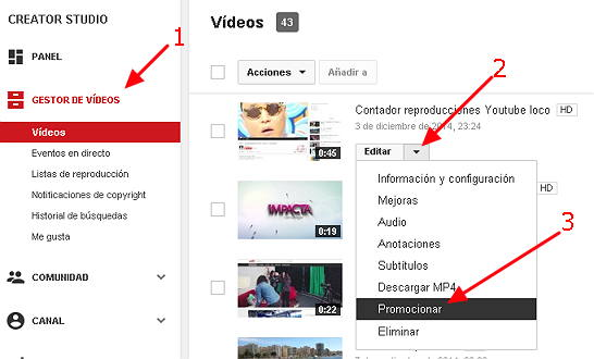 campaña de adwords para video2