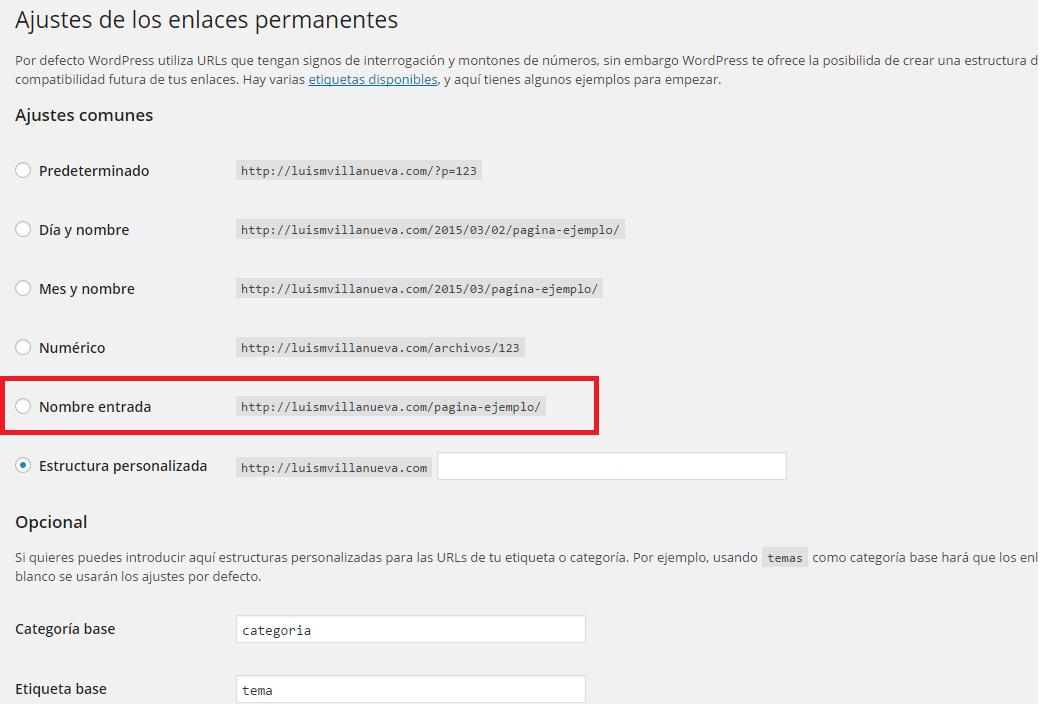 Configuración de SEO para WordPress