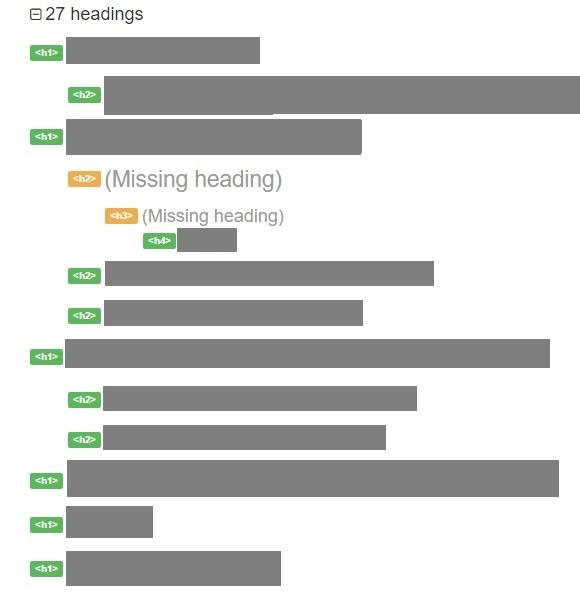estructura de headings