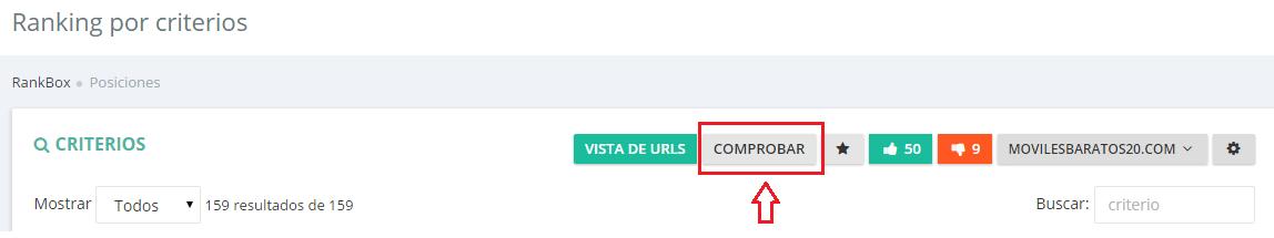 comprobar criterios con seobox