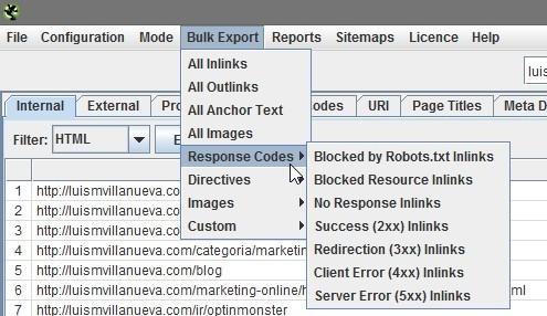 export response codes